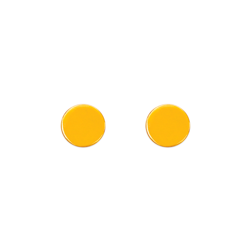 343-043 High Polished Circle Stud Earrings
