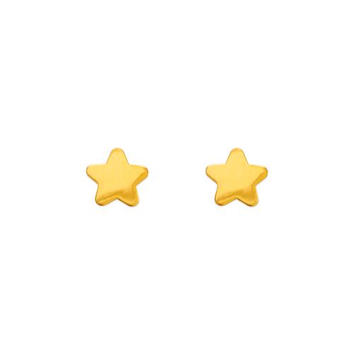 343-045 High Polished Star Stud Earrings