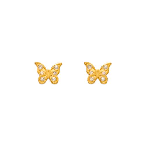 343-232 Butterfly CZ Stud Earrings