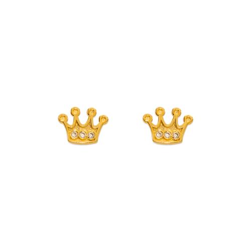 343-233 Tiara CZ Stud Earrings