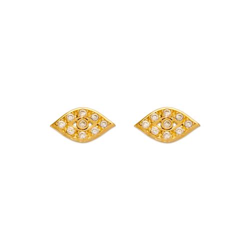 343-235 Evil Eye CZ Stud Earrings