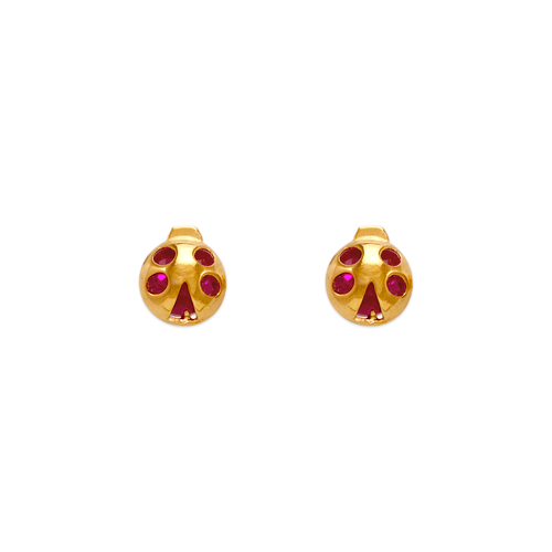 343-414 Ladybug CZ Stud Earrings