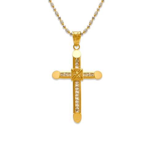 563-102 37mm Eternity Cross CZ Pendant