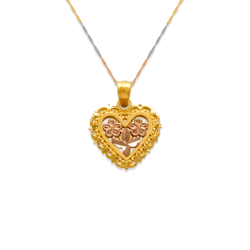 568-159 Two-Piece Heart Pendant