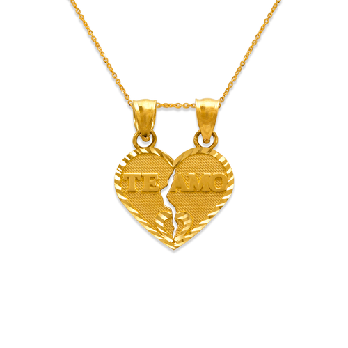 568-289 Two-Piece Te Amo Heart Pendant