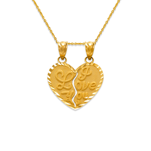 568-297 Two-Piece I Love You Heart Pendant