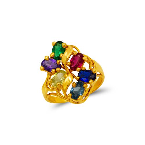 573-066 Mother Flower CZ Ring