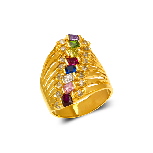 573-069 Mother 8-Stack CZ Ring