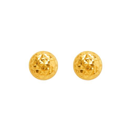 142-121 Diamond Cut Half Ball Stud Earrings