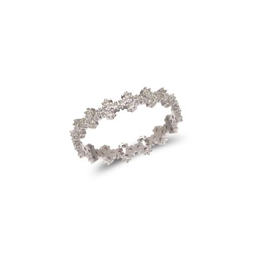 273-101W Ladies Fancy White CZ Band Ring