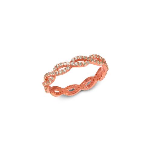 273-102R Ladies Fancy Rose CZ Band Ring