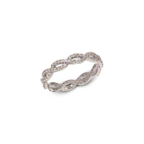 273-102W Ladies Fancy White CZ Band Ring