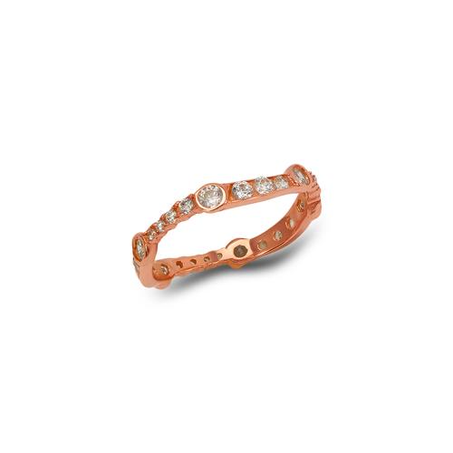 273-104R Ladies Fancy Rose CZ Band Ring