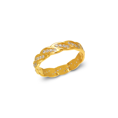 273-106 Ladies Fancy CZ Band Ring