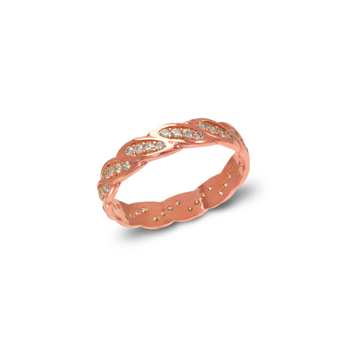 273-106R Ladies Fancy Rose CZ Band Ring