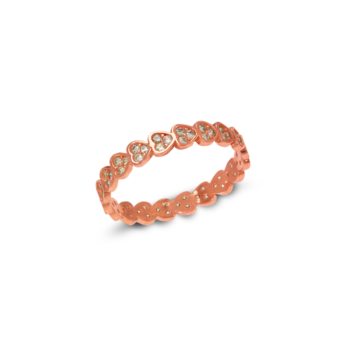 273-109R Ladies Fancy Rose CZ Band Ring