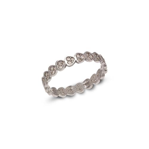 273-109W Ladies Fancy White CZ Band Ring