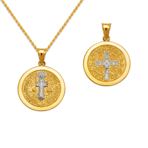 362-971Z-018 Saint Benedict Two-Sided Pendant