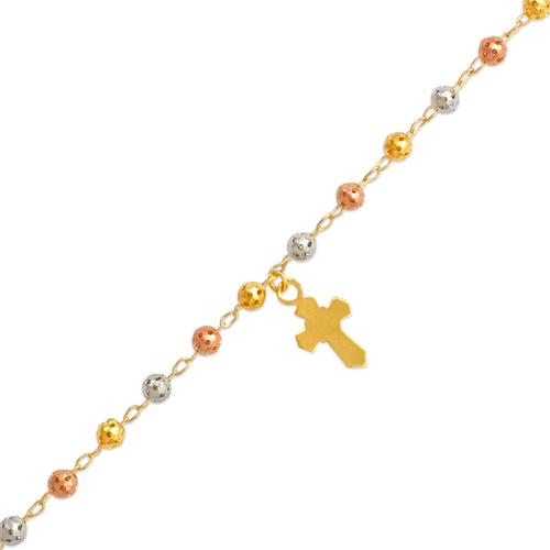 327-001T Rosary Tricolor Bracelet