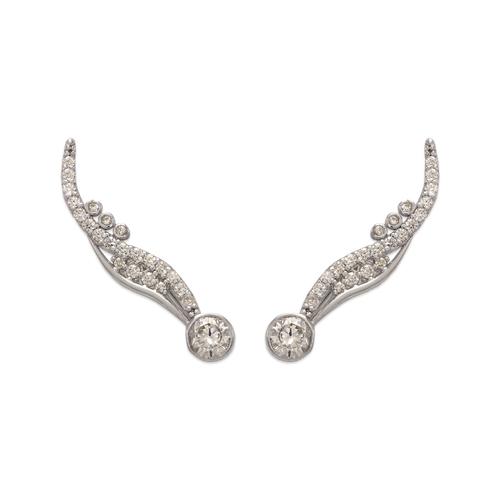 243-003W Crawler CZ Earrings