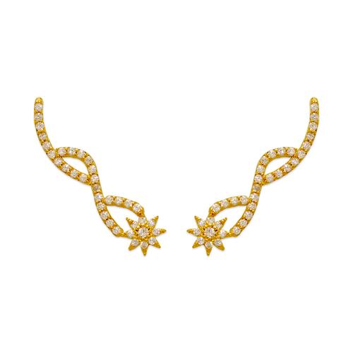 243-004 Crawler CZ Earrings