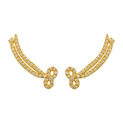243-005 Crawler CZ Earrings
