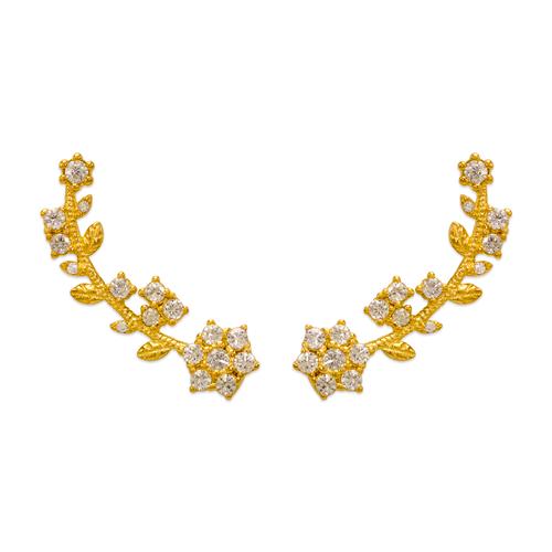 243-008 Crawler CZ Earrings