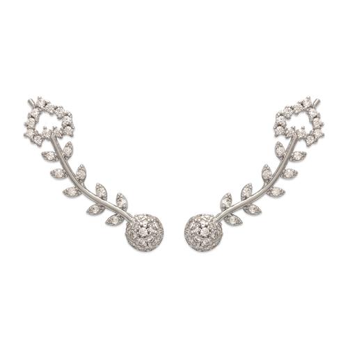 243-009W Crawler CZ Earrings