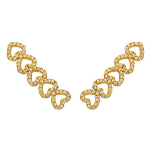 243-010 Crawler CZ Earrings