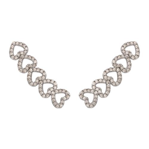 243-010W Crawler CZ Earrings