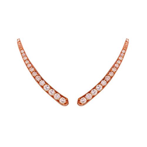 243-001R Crawler Rose CZ Earrings