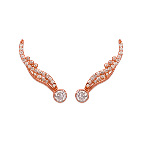 243-003R Crawler Rose CZ Earrings