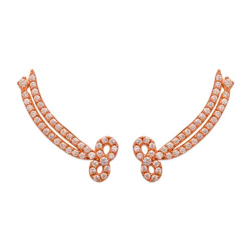 243-005R Crawler Rose CZ Earrings