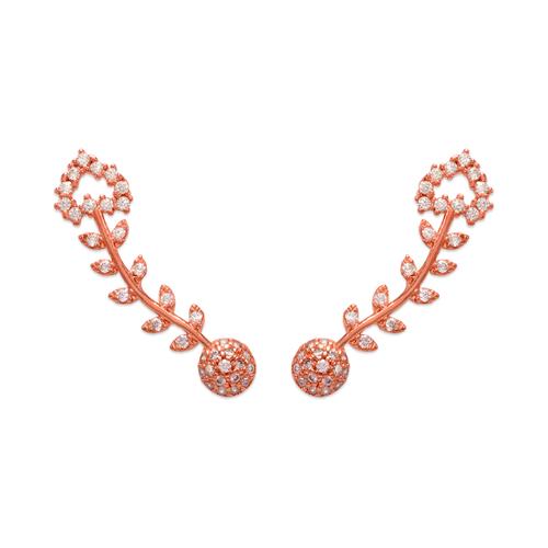 243-009R Crawler Rose CZ Earrings