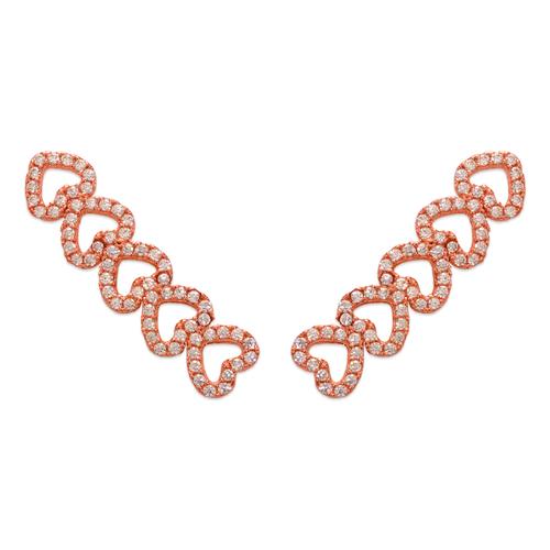 243-010R Crawler Rose CZ Earrings