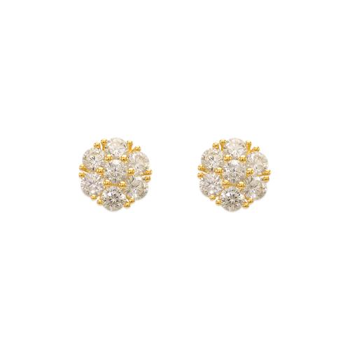743-013 Fancy Flower CZ Stud Earrings