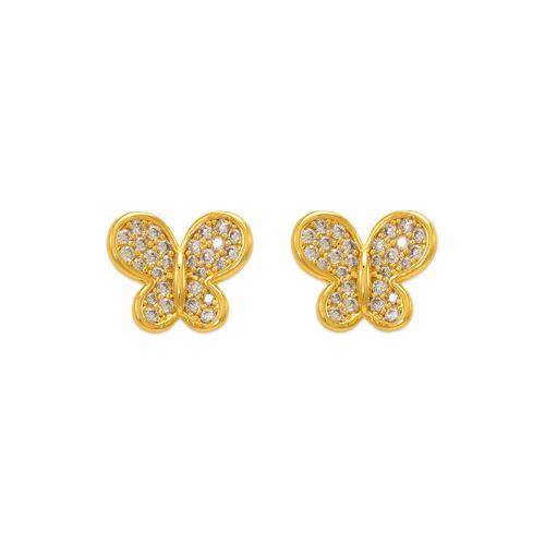 743-039 Fancy Butterfly CZ Stud Earrings