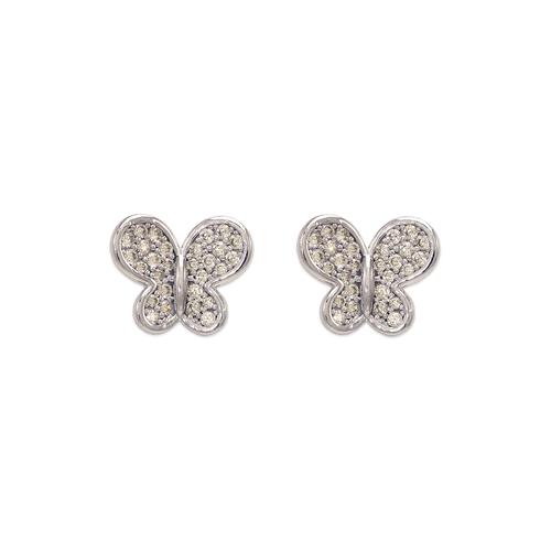 743-039WFancy Butterfly CZ Stud Earrings