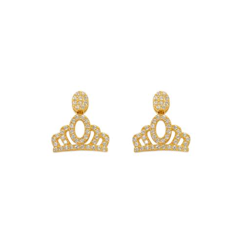 743-040 Fancy Crown CZ Stud Earrings