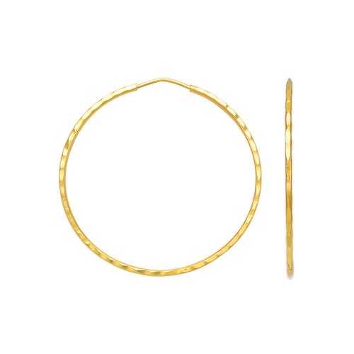 546-311S 1.2mm Square Tube Hoop Earrings