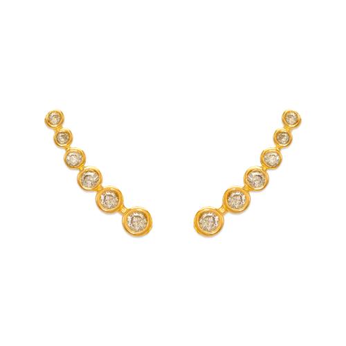 243-012 Crawler CZ Earrings
