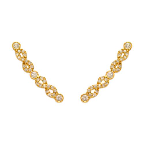 243-013 Crawler CZ Earrings
