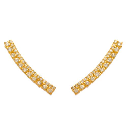 243-014 Crawler CZ Earrings