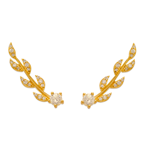 243-016 Crawler CZ Earrings