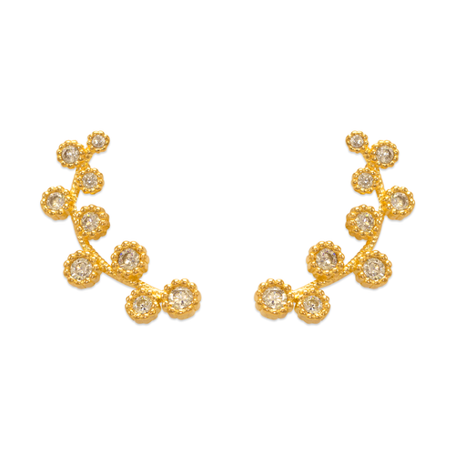243-017 Crawler CZ Earrings