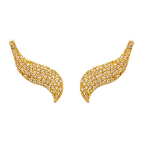 243-018 Crawler CZ Earrings