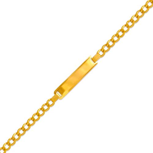 126-101B-080 Kids Hollow Curb ID Bracelet