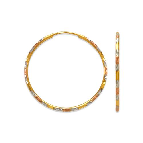 848-011S 1.8mm Round Tube Hoop Earrings