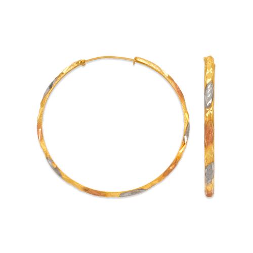 848-012S 2mm Stamping Hoop Earrings