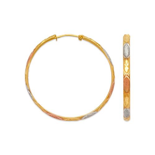 848-013S 3mm Stamping Hoop Earrings